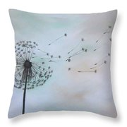 Dandelion Print Throw Pillow