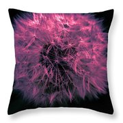 Dandelion Red Throw Pillow
