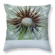 Dandelion Seed Puff Throw Pillow