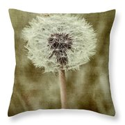 Dandelion Textures Throw Pillow