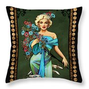 Danella Students 1 Green Throw Pillow