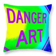 Danger Art Throw Pillow