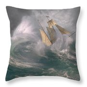 Danger At Sea Throw Pillow