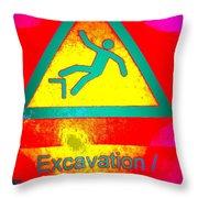 Danger Of Falling Throw Pillow
