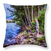 Dangerous Beauty Throw Pillow by Omaste Witkowski