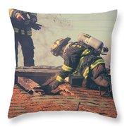 Dangerous Work Throw Pillow