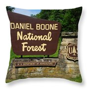 Daniel Boone Throw Pillow by Frozen in Time Fine Art Photography