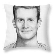 Daniel Tosh Throw Pillow by Olga Shvartsur