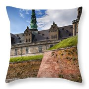 Danish Castle Kronborg Throw Pillow