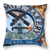 Danish Mill Bakery In Solvang California Throw Pillow