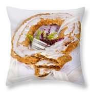 Danish Pastry Ring With Pecan Filling Throw Pillow