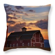Danny's Barn Throw Pillow by Darren  White