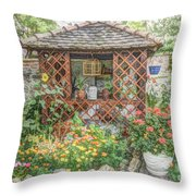 Dans Le Jardin Throw Pillow