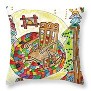 Dans Nos Vieilles Maisons / In Our Old Houses Throw Pillow