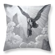 Dante And The Eagle Throw Pillow