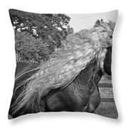 Dante In Black And White Throw Pillow