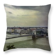 Danube River Throw Pillow