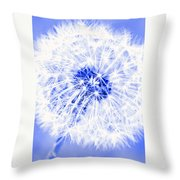Dandy Blue Throw Pillow