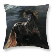 Dappled Horse In Stormy Light Throw Pillow
