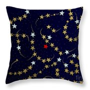 Dare To Be Different - Stars - Blazing Trails Throw Pillow