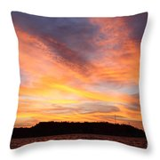 Darien Sunset Throw Pillow