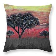 Dark Africa Throw Pillow