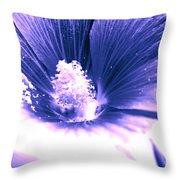 Dark Blue Mallow Throw Pillow