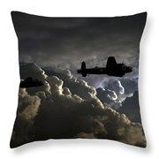 Dark Bombers  Throw Pillow