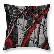 Dark Branches Throw Pillow