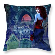 Dark Bride Throw Pillow