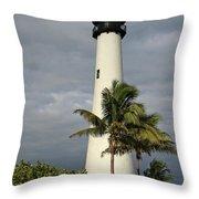 Dark Clouds Over Cape Florida Throw Pillow