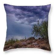 Dark Desert Skies  Throw Pillow