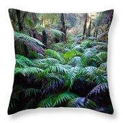 Dark Ferns Throw Pillow