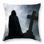 Dark Figure Throw Pillow by Joana Kruse