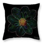 Dark Flower 2 Throw Pillow