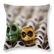 Dark Green And Yellow Throw Pillow