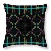 Dark Grid Quilt Throw Pillow