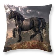 Dark Horse Throw Pillow