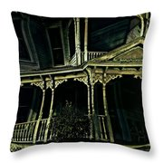 Dark House Throw Pillow