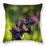 Dark Irises Throw Pillow