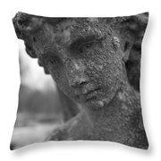 Dark Lady Throw Pillow by Allan Morrison