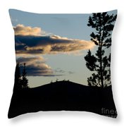 Dark Meets Light Throw Pillow