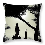 Dark Mysterious Light Throw Pillow