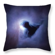 Dark Nebula Cloud  Throw Pillow