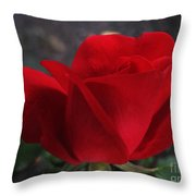Dark Red Rose Throw Pillow