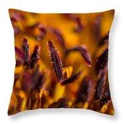 Red Flower Stamens Throw Pillow