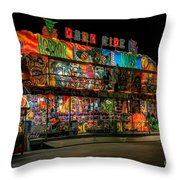 Dark Ride Throw Pillow