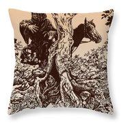 Dark Rider-tolkien Appreciation Throw Pillow