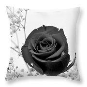 Dark Rose Sq Throw Pillow