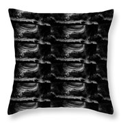 Dark Shade Crystal Stone Based Graphic Art Black Download Multipurpose Throw Pillow
